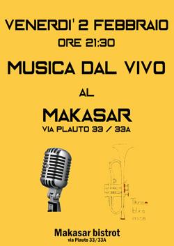 Musica live Roma 2 febbraio 2018 Makasar